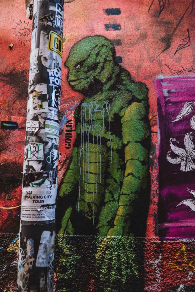 Peinture murale au Cerro Concepcion, Créature amphibienne