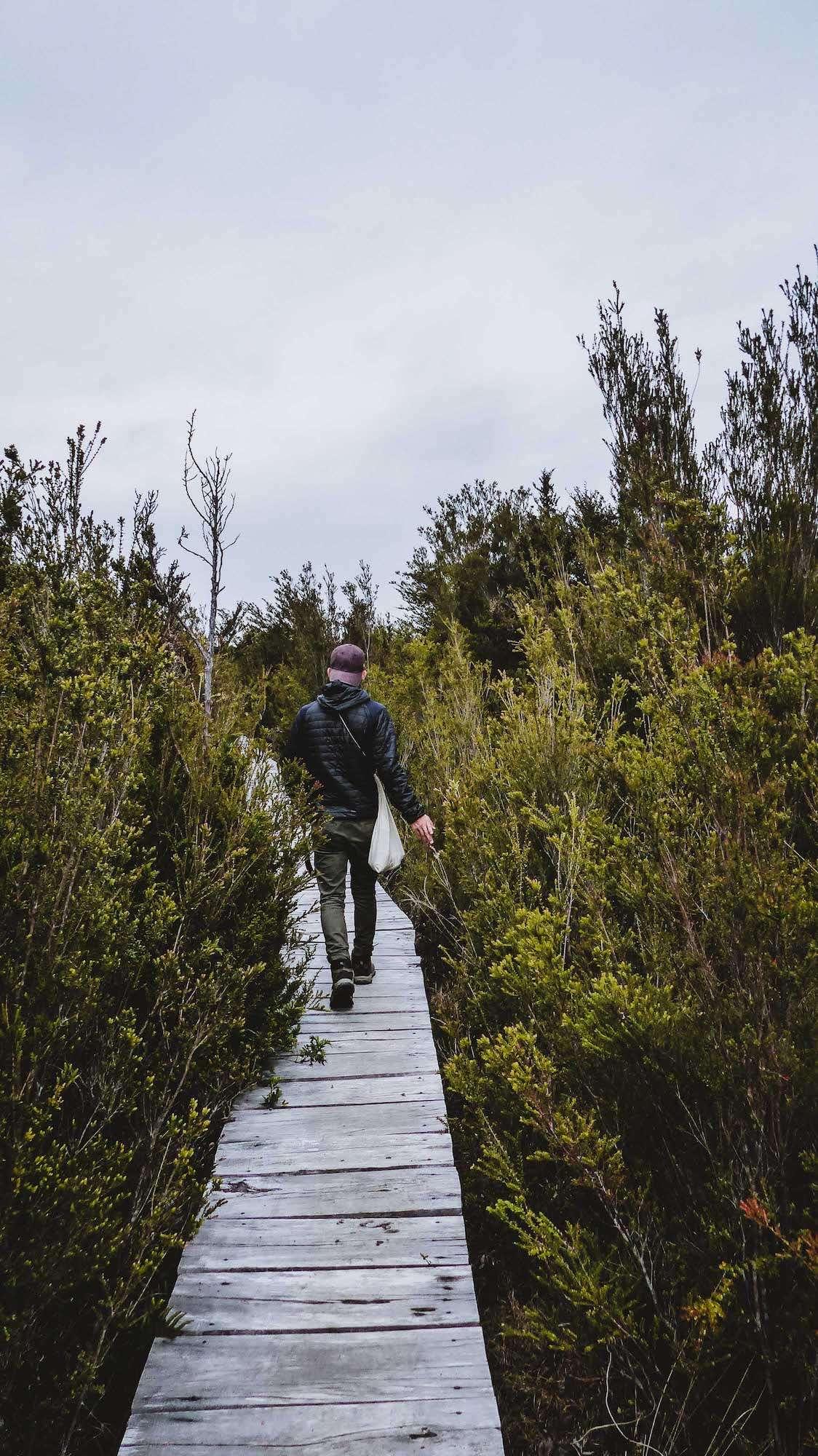 Balade sur les pontons de bois du Parc National de Chiloé